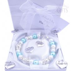 Custom Made Bride Wedding Bracelet - Choice of Charms & Colour